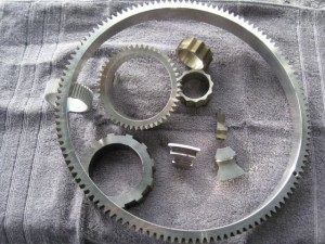 Wire EDM spline and spur gear.