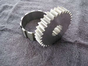 Wire cut EDM spur gears with internal spline.