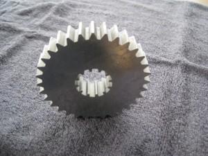 Tannhjul med innvendig spline, tråderodert.