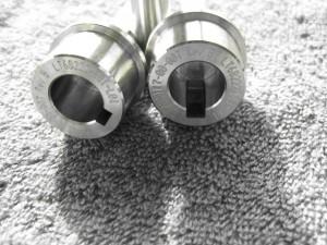 5mm ikke gjennomgående kilespor, utført ved senkgnisting