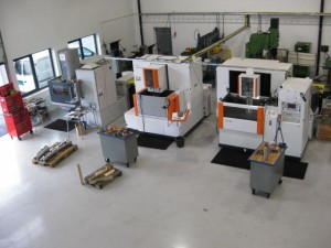 3 of our wire cut EDM machines.