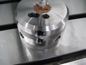 Elektroden benyttes til å senkeerodere spline.